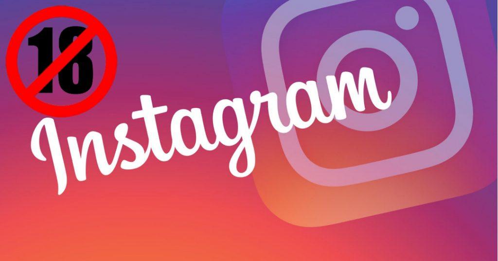 instagram minori 18 anni